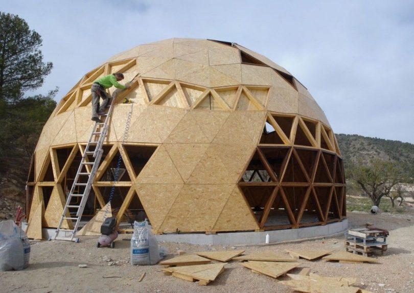 Construção sustentável domos geodésicos